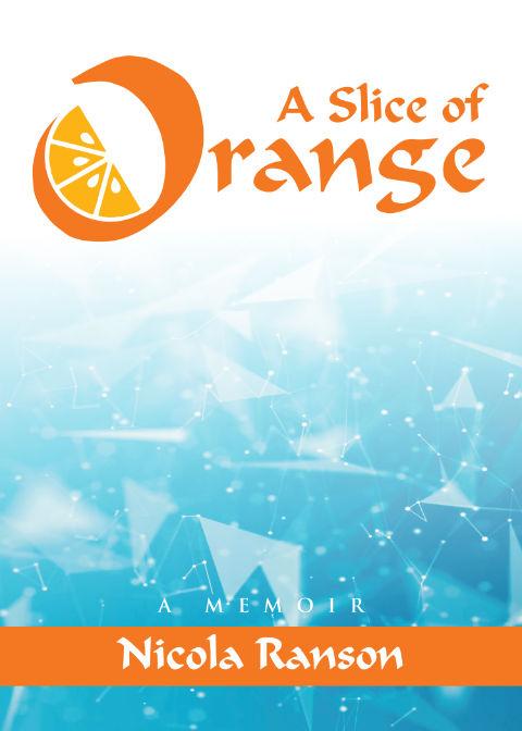a slice of orange book cover