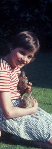nicola with rabbit